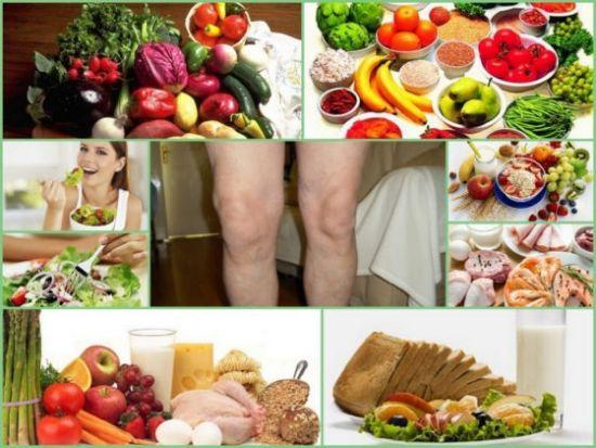 Продукты питания и ноги
