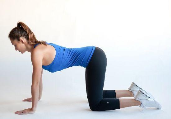 Упражнения на коленях