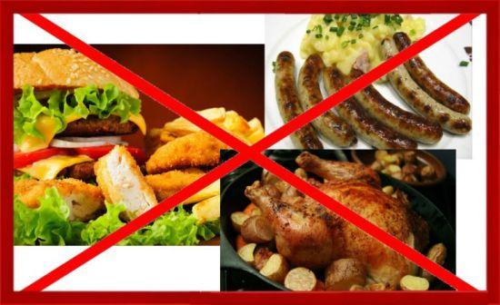 перечеркнутая еда