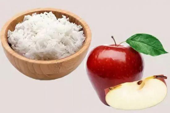 Рис и яблоко