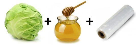 Капуста, мед, пленка