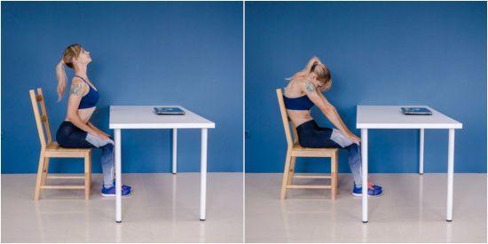 Упражнения для спины на стуле