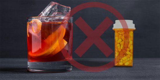 Запрет на лекарства с алкоголем