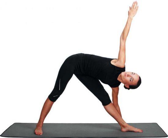 Поза вытянутого треугольника в йоге