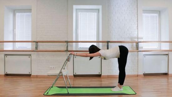 Йога, поза прямого угла
