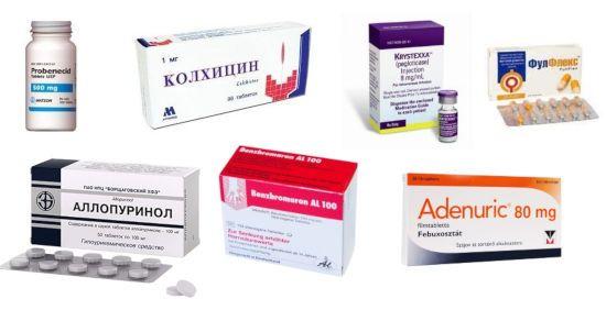 Колхицин, Аллопуринол, Аденурик