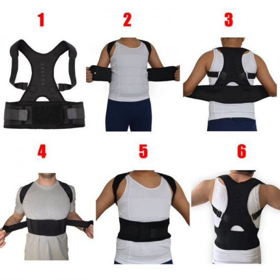 Схема надевания корсета для спины