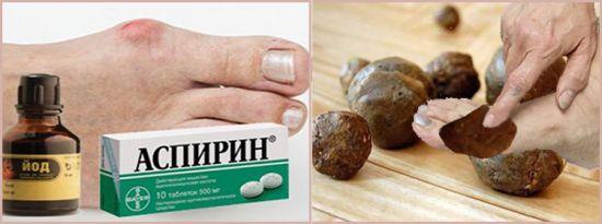 Йод, аспирин, приготовление смеси