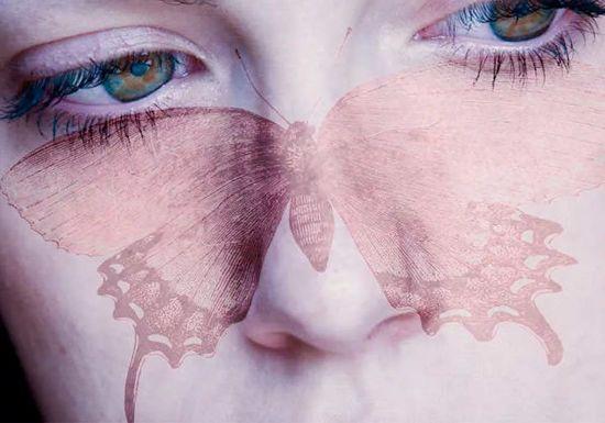 Форма бабочки на лице