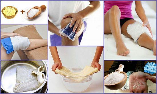 Солевые компрессы на колено