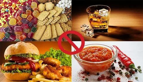 Запрет на алкоголь и сладости