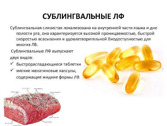 Сублингвальные средства