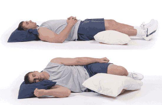 Сон с подушкой в ногах