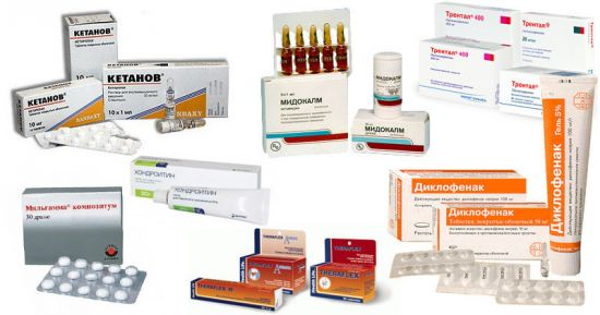Таблетки и уколы при остеохондрозе
