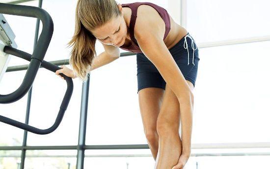 Боль в ноге на тренировке