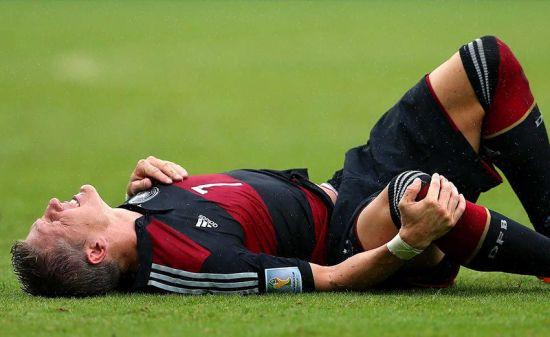 Травма у футболиста