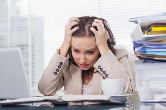 Стресс на работе у женщины