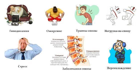 Причины боли в позвоночнике