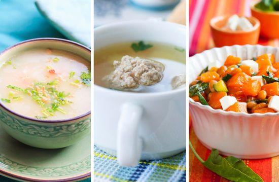 Крем-суп, каша, салат