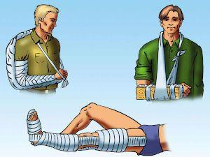 Повязка на руку и ногу